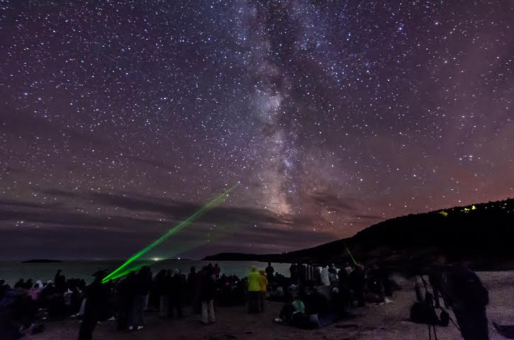 Star Party at Sand Beach in Acadia National Park